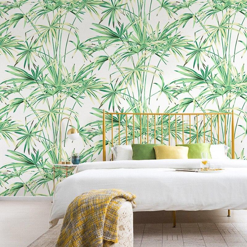 Papier peint vent nordique Ins asie du sud-est tropicale forêt tropicale palmier vert plante Oslon Nonwovens salon chambre papier peint