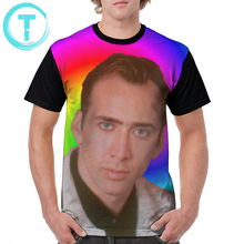 Nicolas T Shirt Cage Mind T-Shirt Fashion Print Graphic Tee Short-Sleeve Awesome Polyester Male 4xl Tshirt