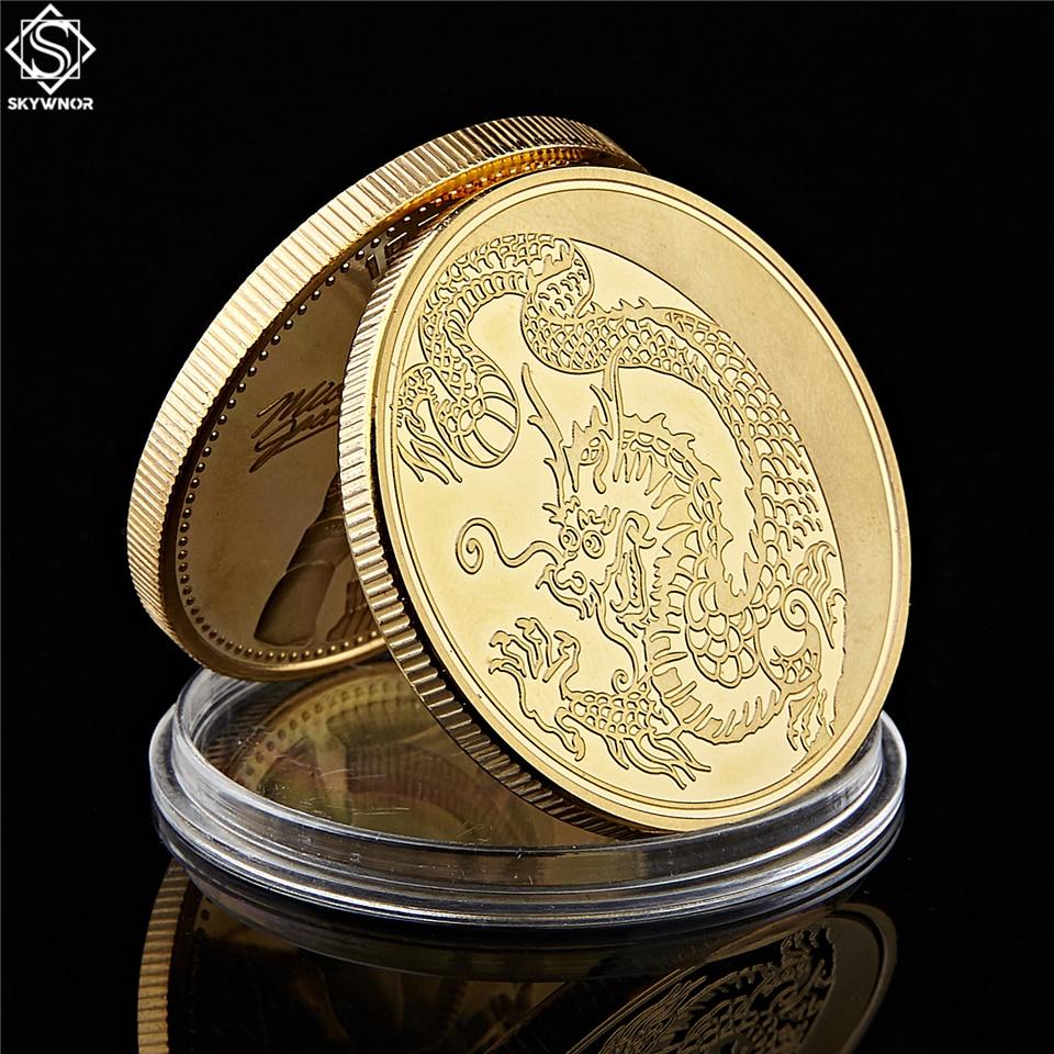 2019 Retail Rússia Mosca Do Dragão Do Zodíaco Banhado A Ouro Coin Animais Loong Rublos Moeda Liga de Metal Artesanato