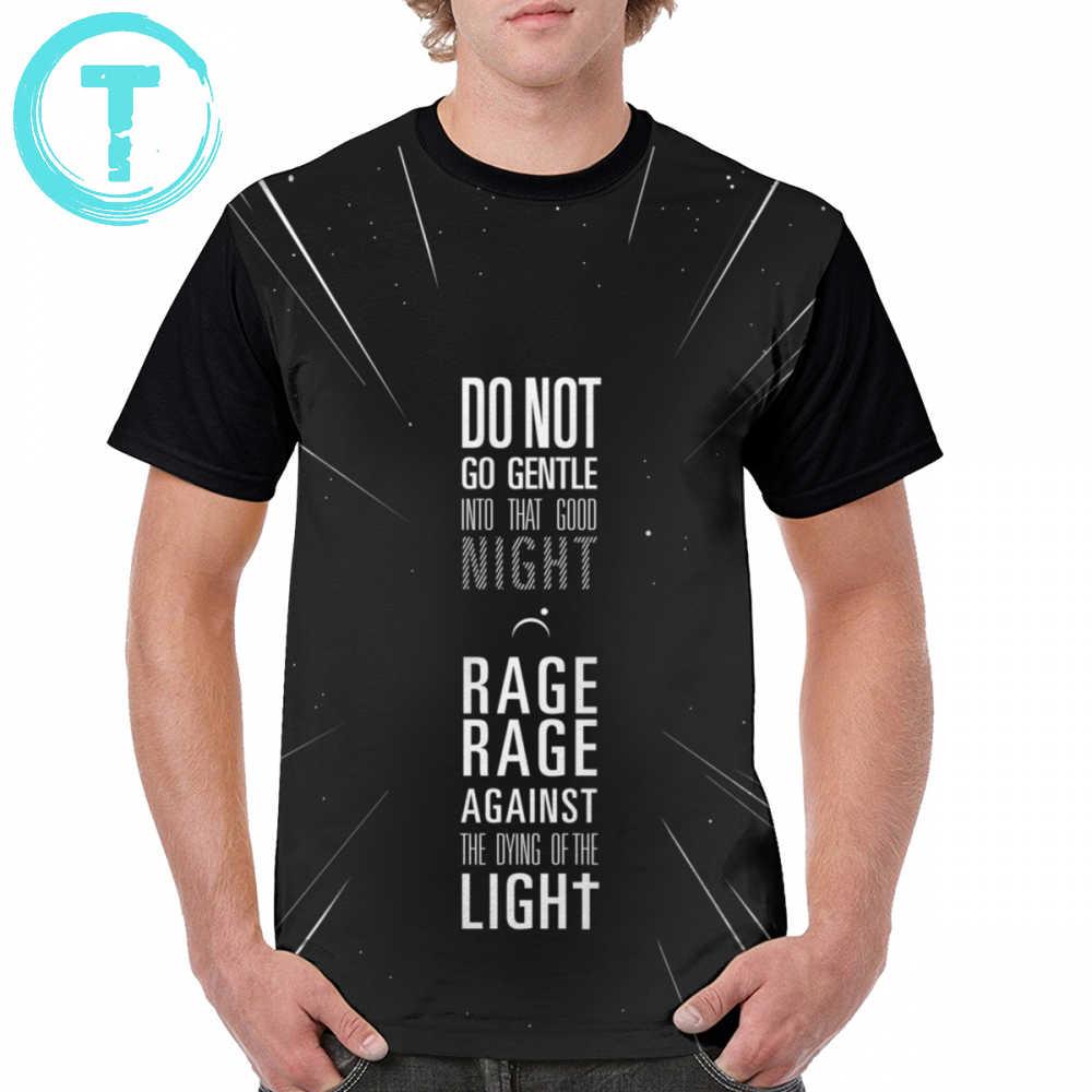 066deef7f Interstellar T Shirt Do Not Go Gentle Into That Good Night T-Shirt Male 4xl