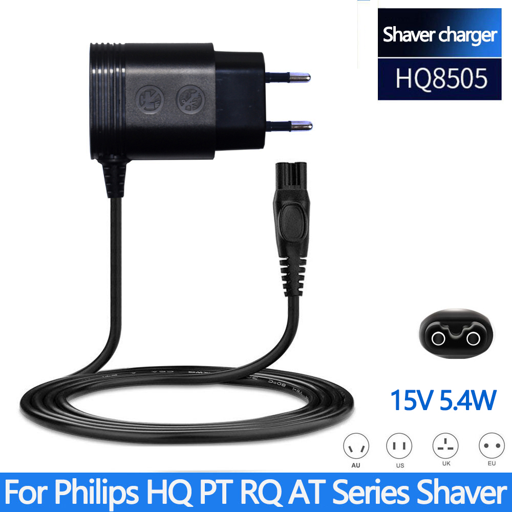 15V 5.4W HQ8505 Charger EU Plug For PHILIPS Norelco HQ8420 HS8060 HS8040 RQ1150 RQ1160 RQ1180 RQ1085 RQ1095 Electric Shavers