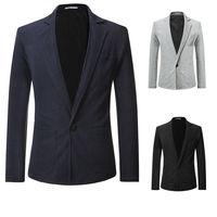 Blazer Coat Fit Jacket Button Button Slim Tops Stylish Men's Button Slim Fit Button Formal One Suit Blazer Coat Jacket Tops