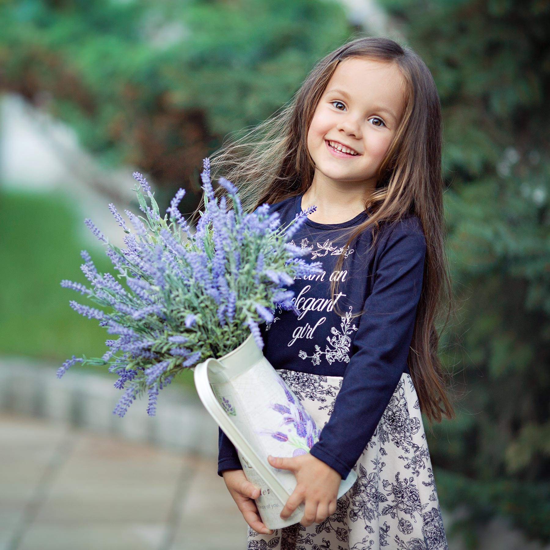 Children Girl's Blue&Purple Flower Dress BOSSA NOVA 150B-167 multicolor flower print sleeveless pencil dress