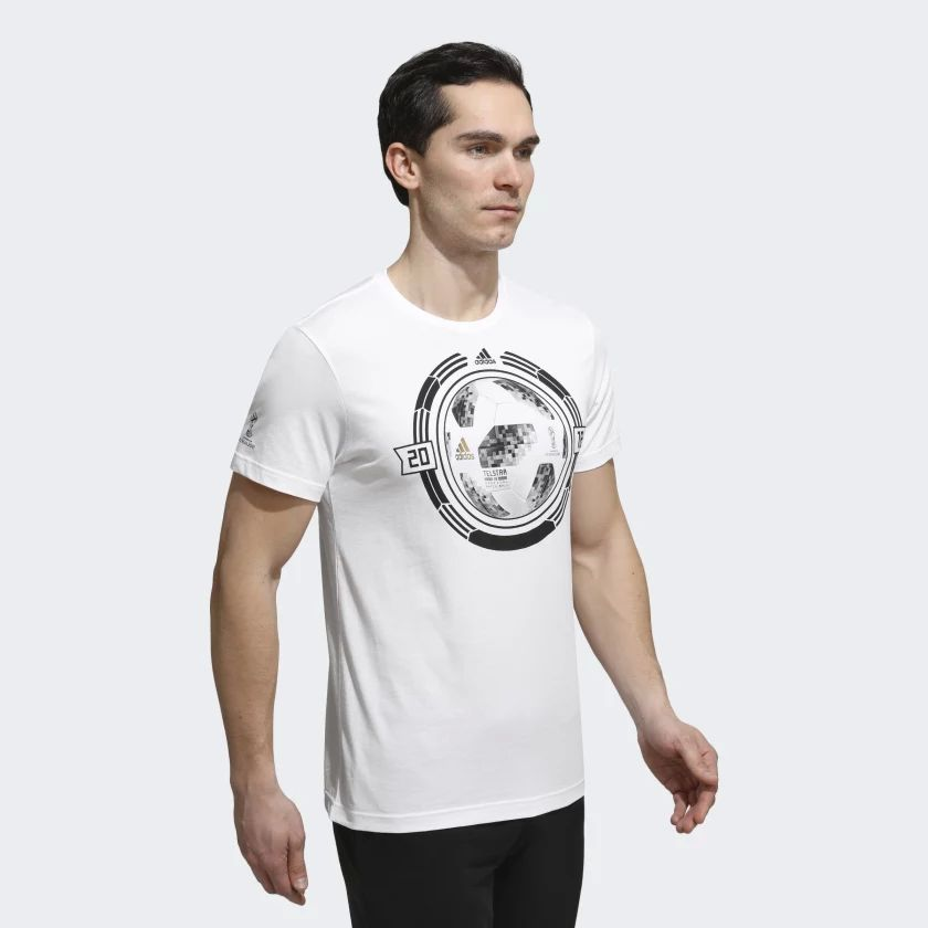 Male T-Shirt Adidas CW2086 sports and entertainment for men slippers adidas 288022 sports and entertainment for men