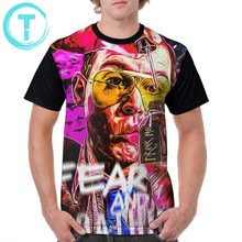 Johnny T Shirt Fear And Loathing In Las Vegas Print T-Shirt Plus size Short Sleeves Graphic Tee Shirt Polyester Tshirt floral and graphic print buttons henley t shirt