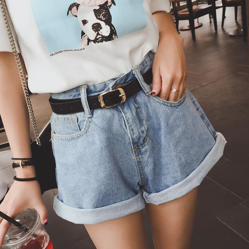 Women's Denim Shorts Fashion Brand Vintage Shorts Casual Ripped High Waist Wide Leg Loose High Waist Shorts Jeans 2018