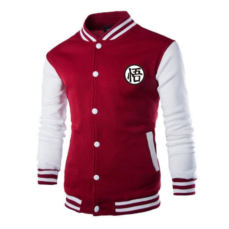 Men's Spring Autumn jacket 2019 Japanese Anime Dragon Ball Z Men Jacket Goku Baseball Men Brand-Clothing Coat  Jacket Men