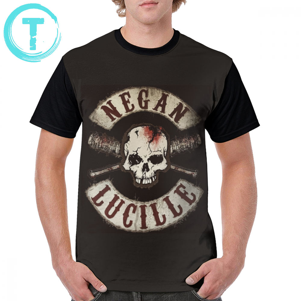 Twd T Shirt Negan - The Walking Dead T-Shirt Oversized 100 Percent Polyester Graphic Tee Shirt Funny Summer Print Tshirt