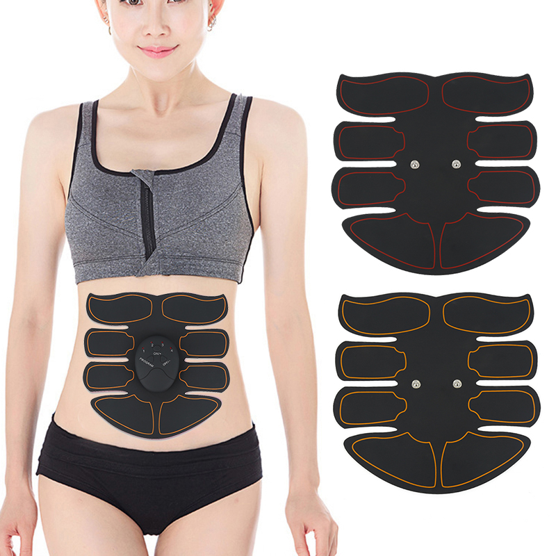 Smart Abdominal Muscle Exercisera Trainer Sticker ABS Massager Stimulator Pad Exercise Fitness Sports Gear Equipment Tools