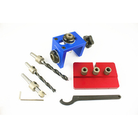 Hot 3In1 Woodworking Pocket Fixture Kit Step Drill Bit Locator Manual Tool Joiner With Wrench Screwdriver Woodworking Saw Set