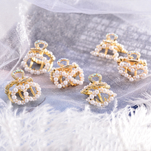 Sale Heart Cute Girls Sweet Hair Claw Popular Clips Imitation Pearl Women Bowkont Accessories