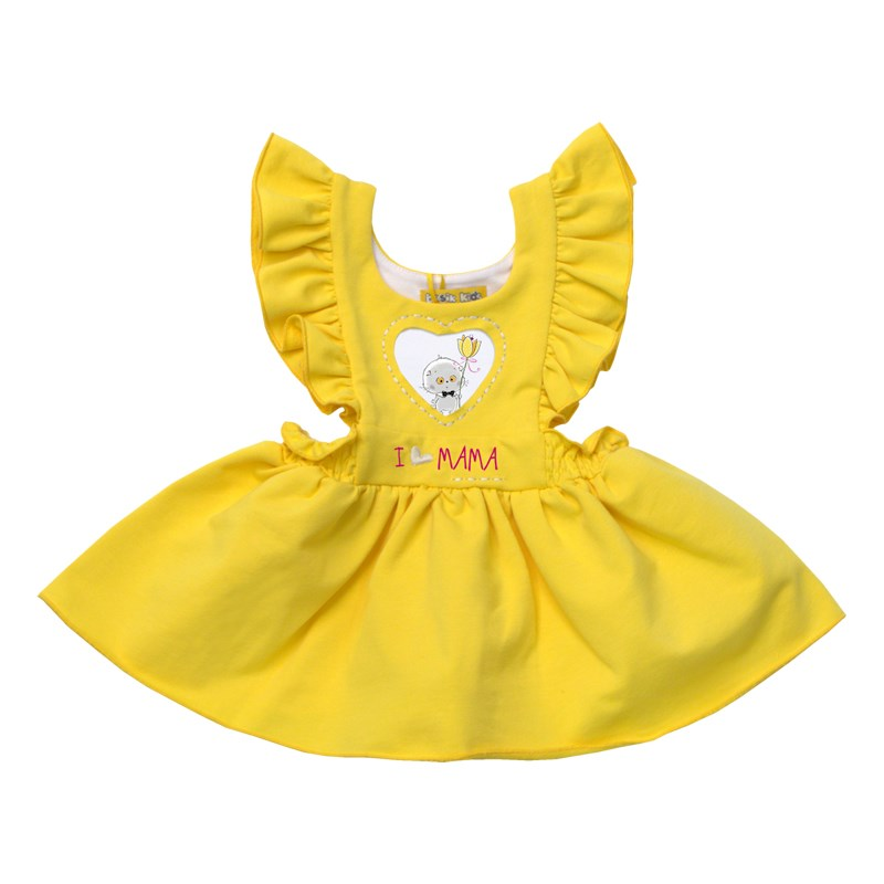 Basik Kids Dress with wings yellow kids clothes children clothing цена и фото