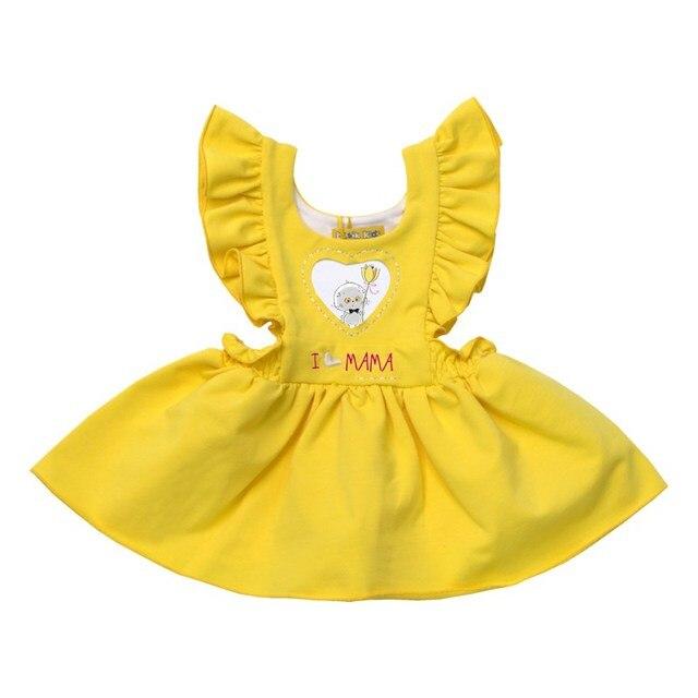 Basik Kids Платье с крылышками желтое