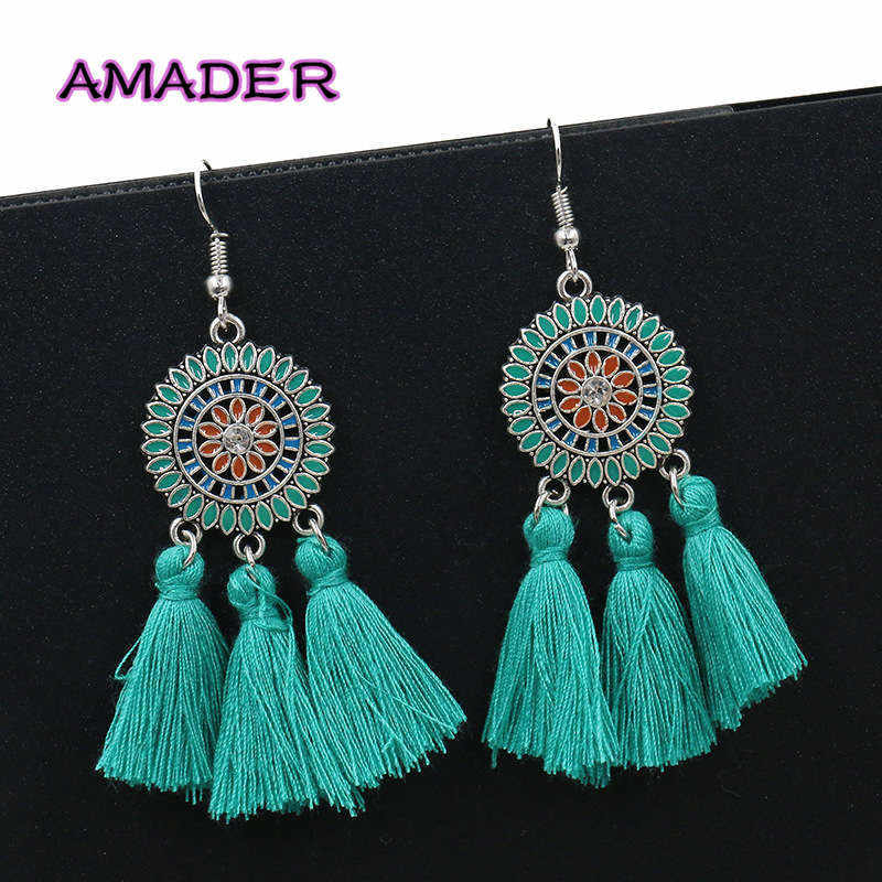 New Women's Earring Exaggerate Big Sun Flower Long Tassel Earrings For Women Jewelry Female Earring Pendientes girl Brincos