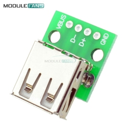 5pcs Type A Female USB To DIP 2.54MM PCB Board Adapter Converter Module For Arduino