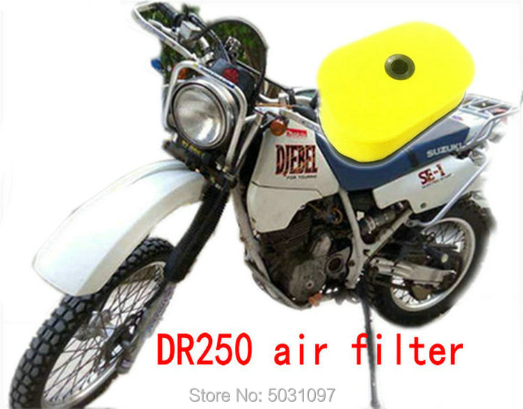 Motorcycle high flow sponge air filter For Suzuki DR250 DR 250 Djebel 250 1998-2007 motorbike modified air filters good quality image