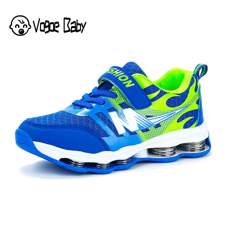Springs Kids Shoes Boys Sneakers For Girls Children Shoes Casual Shoes Breathable Mesh Patchwork Sport Running Tenis 4829