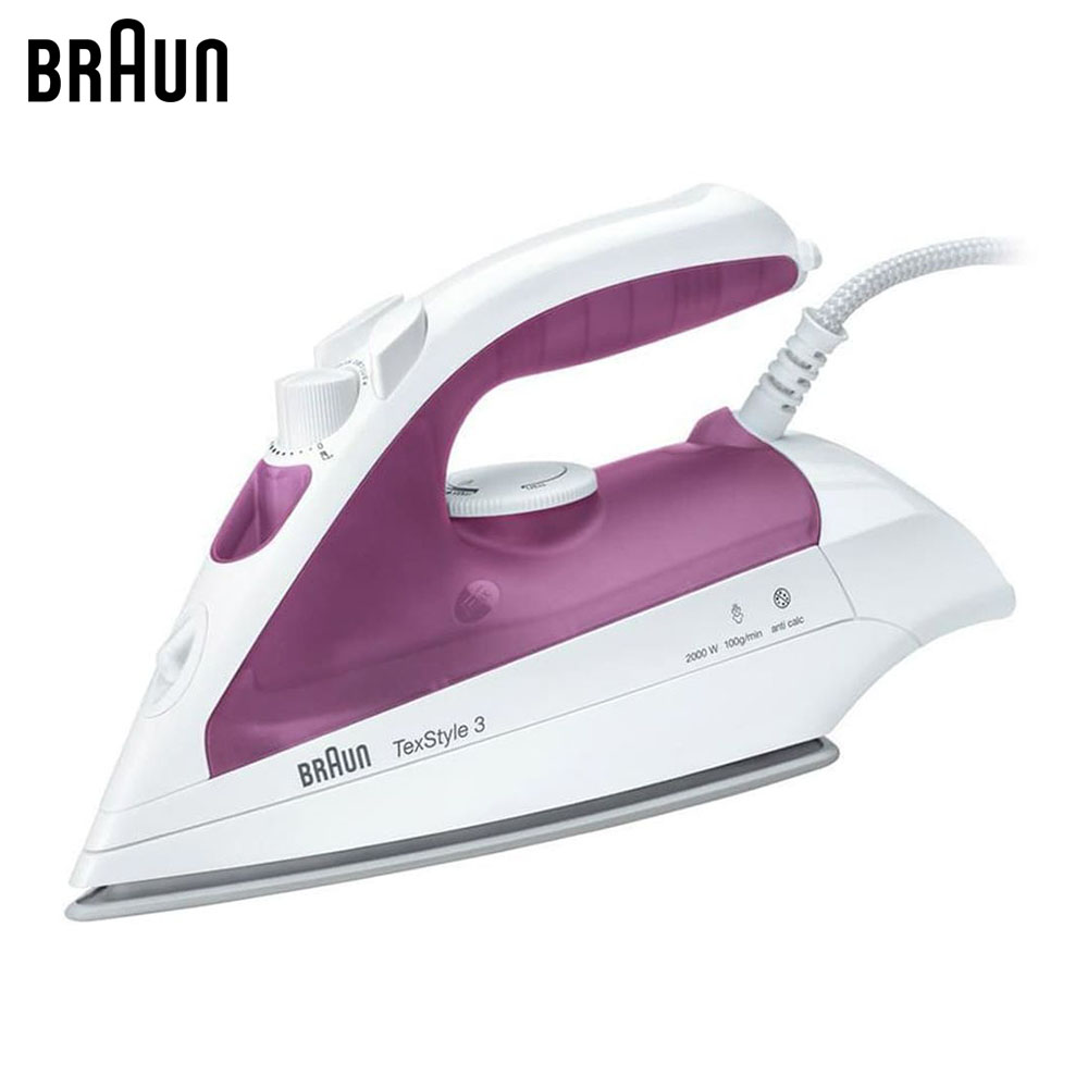 Electric Irons Braun TexStyle 3 TS320 C steam iron steamer smad 2l 110v vertical garment fabric steamer home portable 45s heat up electric iron steam steamer brush for clothes