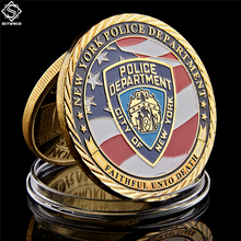 USA New York Sacrifice Warriors Police Heroes Memorial Eagle Challenge Coin Collection Gifts