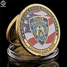Nuevo de ee.uu. York, los héroes de la Policía de Los Guerreros del desierto, moneda conmemorativa del Águila, regalo de colección de EE. UU.