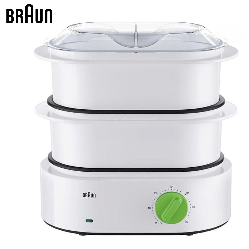 Electric Food Steamers BRAUN FS3000WH Steamer Machine pan for cooking equipment stainless steel dry fruit machine pet food dehydrator machine vegetable dryer drying machine 6 trays zf