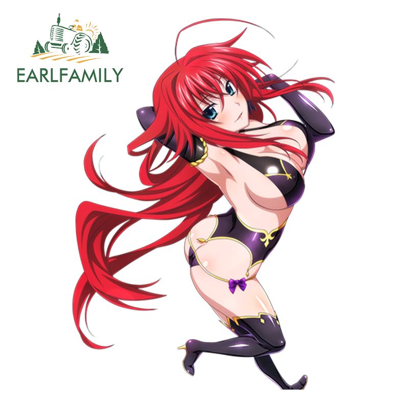 Exterior Accessories Discreet Earlfamily 13cm X 9.2cm Sexy Uniform Girl Decal High School Dxd Funny Car Sticker Rias Gremory Render Waterproof Accessories High Resilience