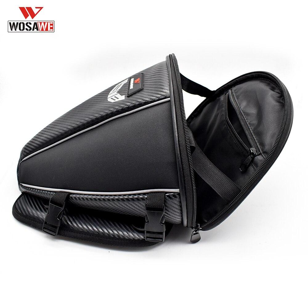 WOSAWE Motorcycle Bag Motorcycle Back Seat Bag Luggage Bags Tail Saddlebag Motorcycle Riding Travel Luggage Handbag