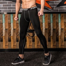 купить Men Compression basketball Pants Sports Running Tights Jogging Leggings Fitness Gym Clothing Yoga Trousers Deporte Sportswear дешево