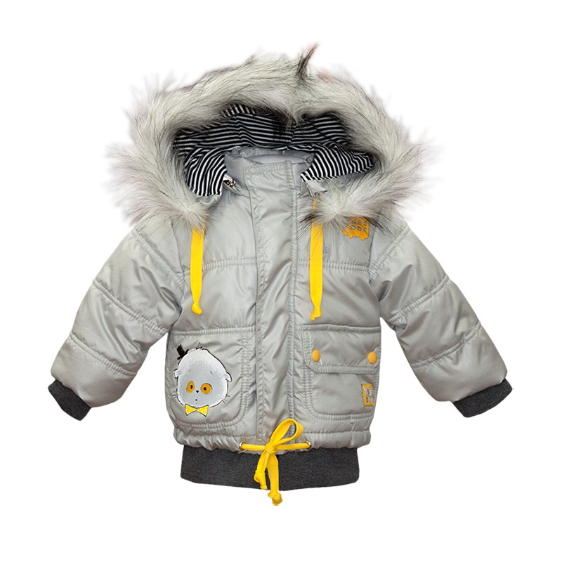 Basik Kids Jacket with a hood light gray
