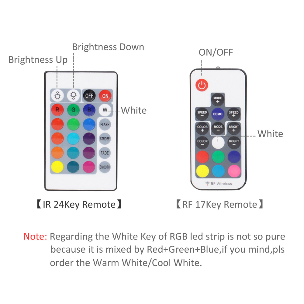 Image 4 - Ribbon RGB LED Strip Battery Operated SMD 5050 Tape Lights Waterproof IR RF Remote Control 4AA Battery Powered Fita LED Stripe-in LED Strips from Lights & Lighting