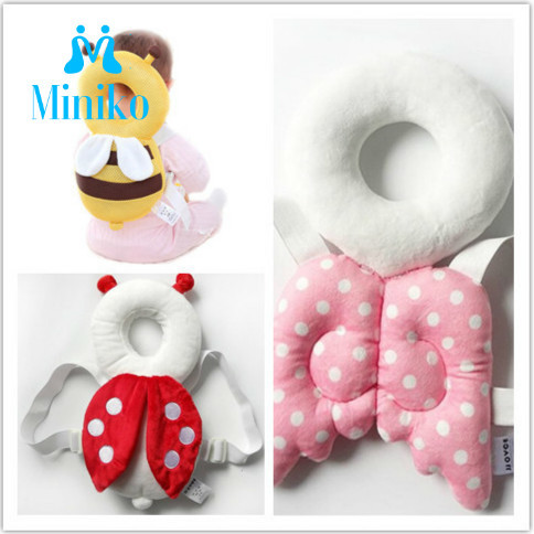 Baby Head Protection Pillow Pad Toddler Headrest Pillow Baby Neck Cute Wings Nursing Cushion Protect Free Delivery Drop Shipping