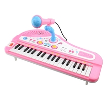 ChildrenS Musical Instruments 37-Key Plug-In Microphone With Multi-Function Music Piano Toy Early Child