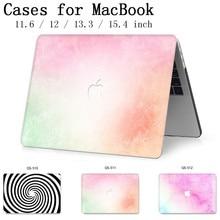Funda para ordenador portátil para MacBook 13,3 de 15,4 pulgadas para MacBook Air Pro Retina 11 12 13 15 con funda protectora de pantalla para teclado apple caso