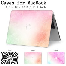 Laptop Case For MacBook 13.3 15.4 Inch For MacBook Air Pro Retina 11 12 13 15 With Screen Protector Keyboard Cove Apple Case New