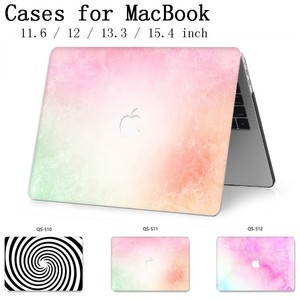 Image 1 - Laptop Case For MacBook 13.3 15.4 Inch For MacBook Air Pro Retina 11 12 13 15 With Screen Protector Keyboard Cove Apple Case New