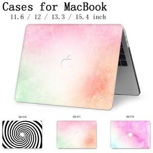Image 1 - Macbook 13.3 용 노트북 케이스 macbook air pro retina 용 15.4 인치 11 12 13 15 화면 보호기 키보드 코브 apple case new