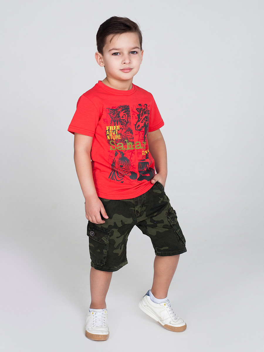 [Available with 10.11] Shorts textile for boys boys roll up sleeve plaid shirt with shorts