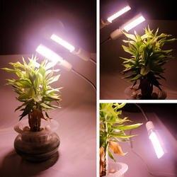 360 градусов гибкий план свет с выключателем Usb Настольная подставка держатель для растений цветок