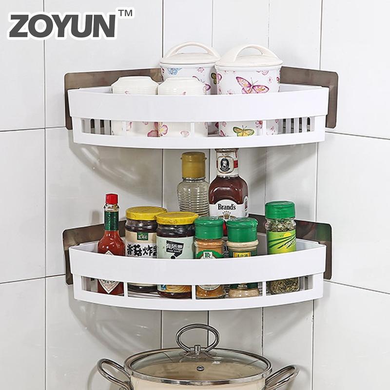 Kitchen Corner Organizer And Storage Spice Rack No Trace