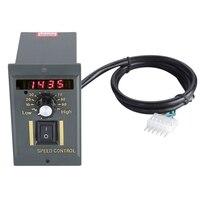 Hot Ac 220V Motor Speed Controller 50Hz 250W Digital Adjustable Stepless Plc Motor Speed Controller 0 1450Rpm Speed Regulator