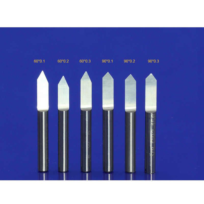 10 Pcs 3.175mm טונגסטן חותך צורת V קרביד PCB חריטת Bits CNC נתב כלי לבחור גודל J3.3001 אקריליק גילוף frezer
