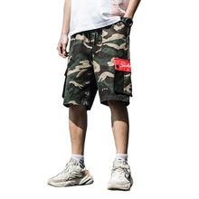 Camouflage tooling shorts men's multi-pocket plus fertilizer XL trend fat Korean version of the loose five pants pants salzburg зальцбург city pocket the big five