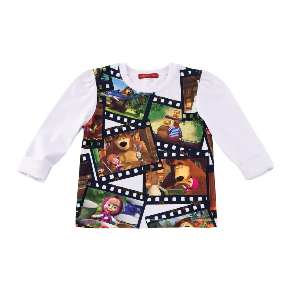 Masha and Bear Blouse long sleeve Flashlight petal sleeve self tie blouse