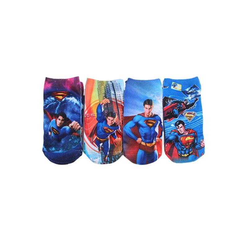 Random 1 pair socks 2019 child Superman Super hero Cartoon kids boys marvel 2 8year SpiderMan men Captain America Boat in Socks from Mother Kids