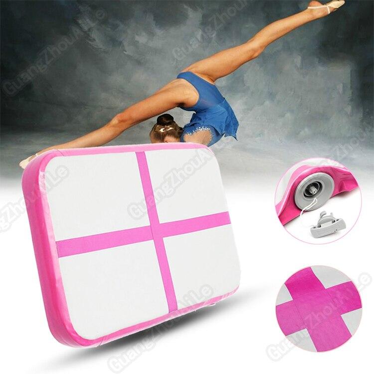 Inflatable Gymnastic Airtrack Tumbling Yoga Air Trampoline Track For Home Use Gymnastics Training Taekwondo Cheerleading 1m*0.6m