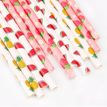 FRIGG 50pcs/Lot Paper Drinking Straws Stripe Polka Dot Birthday Party Decoration Baby Shower Kids Frozen Supplies