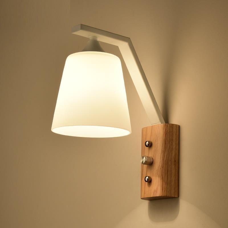 Modern Lamp Lampara De Techo Colgante Moderna Wandlampen Loft Decor Vanity Bedroom Wandlamp Applique Murale Luminaire Wall Light in Wall Lamps from Lights Lighting
