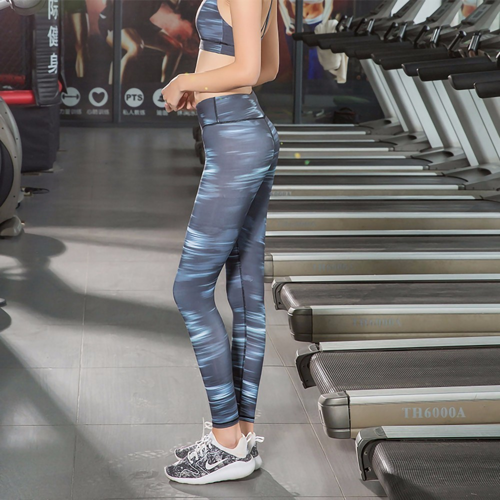 For Women Yoga Slim Casual Leg Pants Fitness Low Waist Yoga Pants Scrunch Butt Lift Wear Hip Trousers Contrast Color Leggings in Yoga Pants from Sports Entertainment