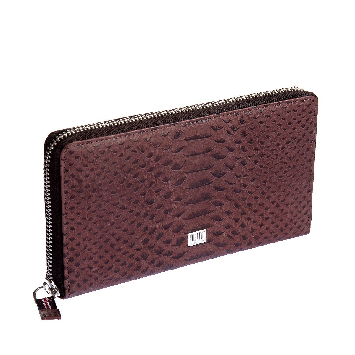 Coin Purse Mano 20151 croco Brown портмоне mano business 19008 19008 brown