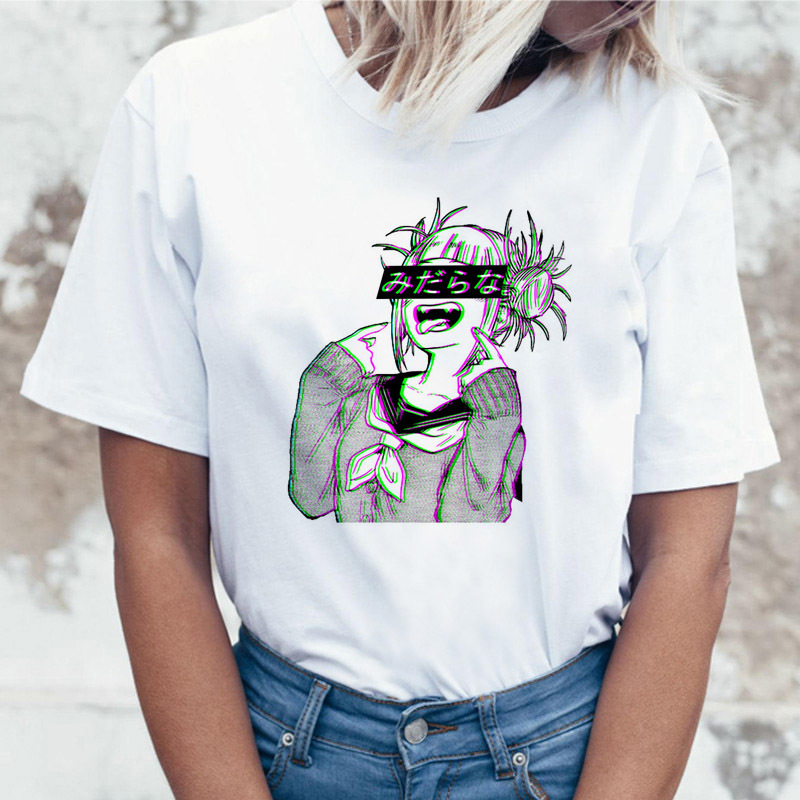 Rude Tee Rock Punk Anime Tshirt Tattoo Design Female High Quality T Shirt Print Top Psychedelic Satanism T-shirt Scary Women